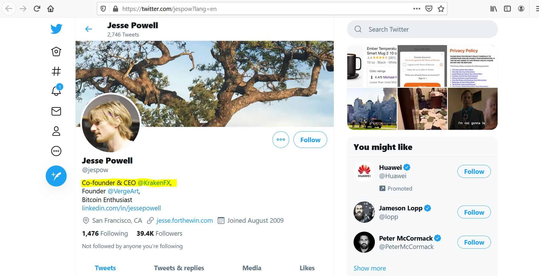 Jesse Powell twitter